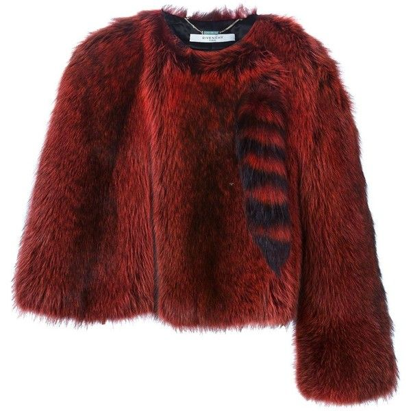 555a4870fd21 Givenchy Raccoon Fur Cape Jacket ($6,685) ❤ liked on Polyvore featuring  outerwear, jackets, black, cropped fur jacket, cropped jacket, cape coat,  givenchy ...