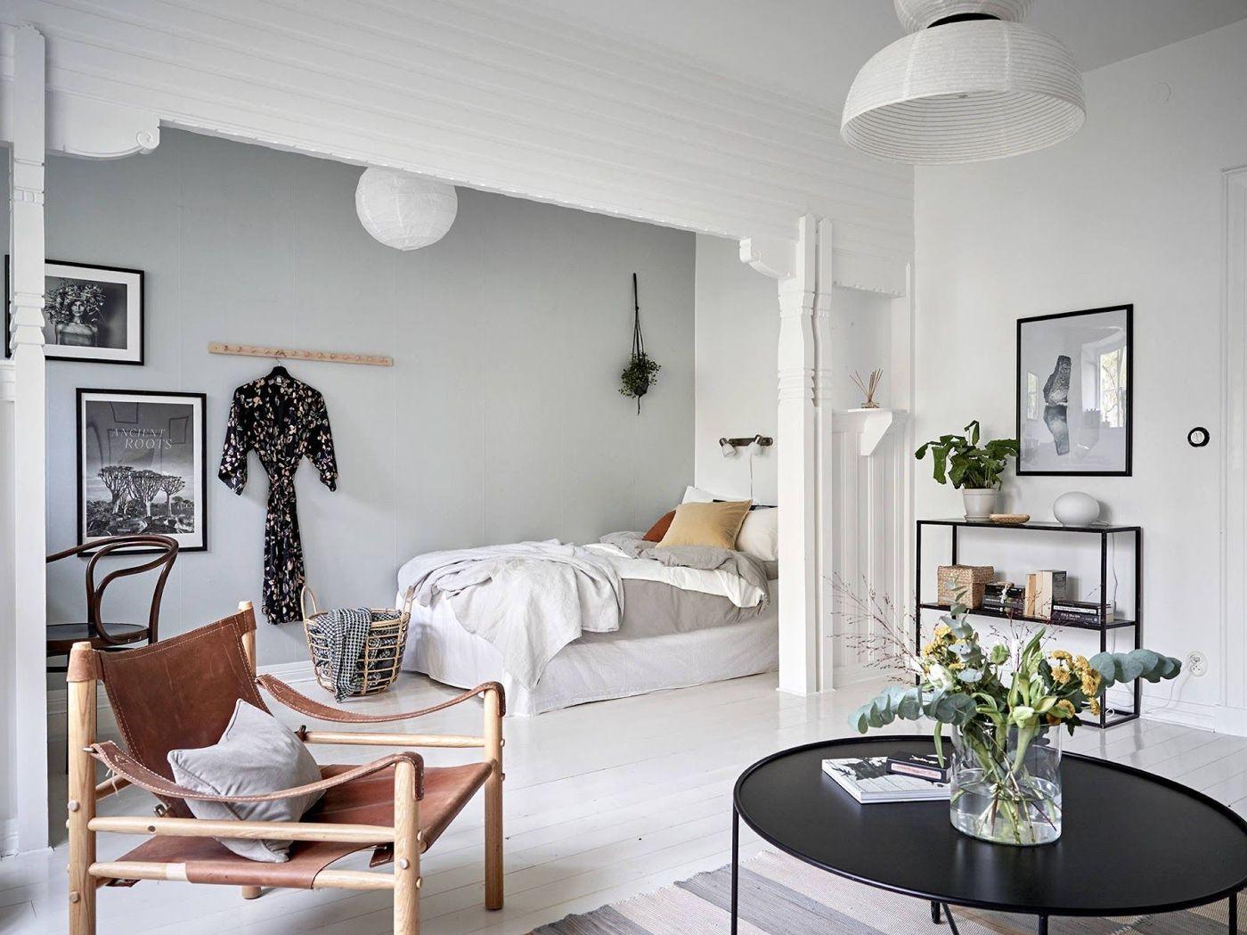 Einrichtungsbeispiele Fur Wohn Und Schlafzimmer In Einem Raum