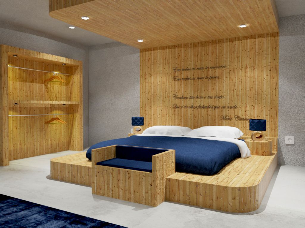 Renders 3d For Master Bedroom Project: The Literary Man Hotel #hotel #books #literary #óbidos