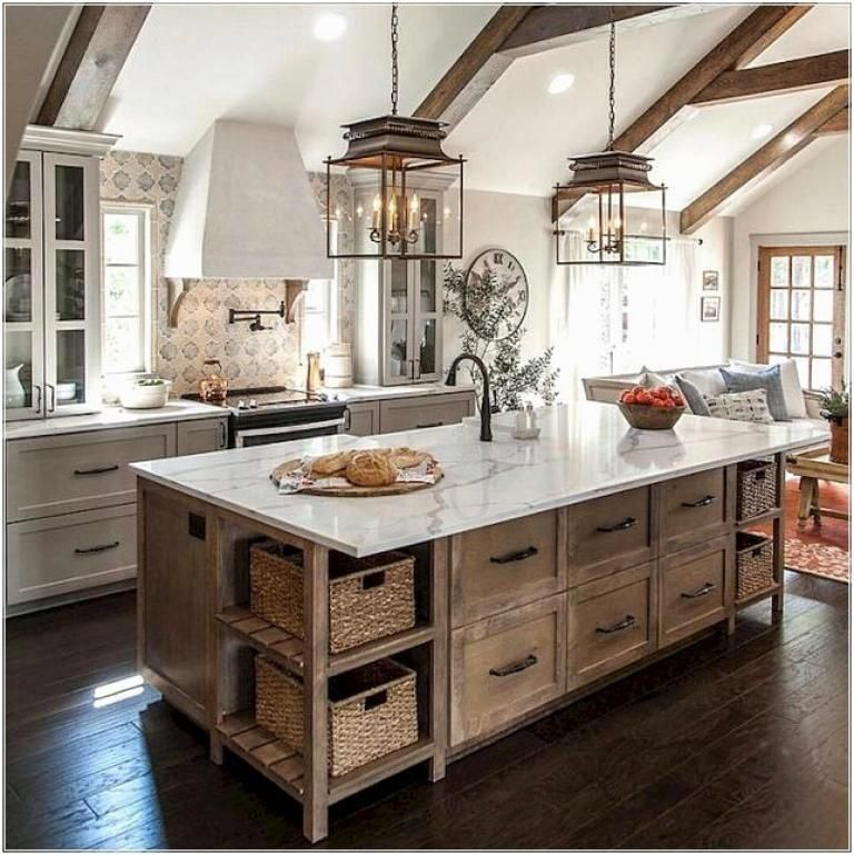 rustic kitchen rustickitchen in 2019 country kitchen designs modern farmhouse kitchens on kitchen cabinets rustic farmhouse style id=54495