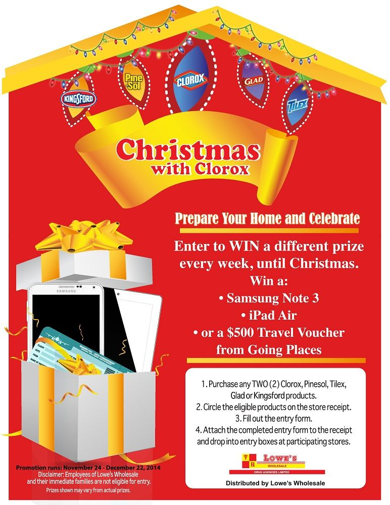 Christmas With Clorox - Enter to Win Great Prizes! | Lowe's