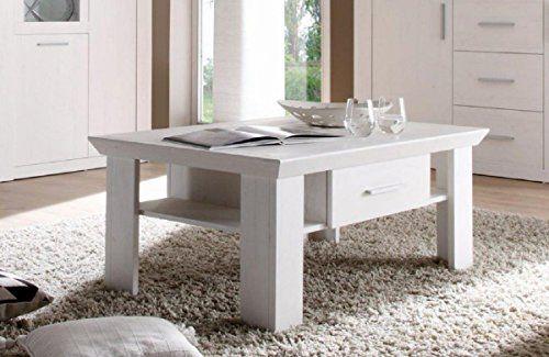 Dreams4Home Couchtisch \u0027Ruma\u0027 - Tisch, Sofatisch, Ablagetisch - Wohnzimmer In Weis Und Braun