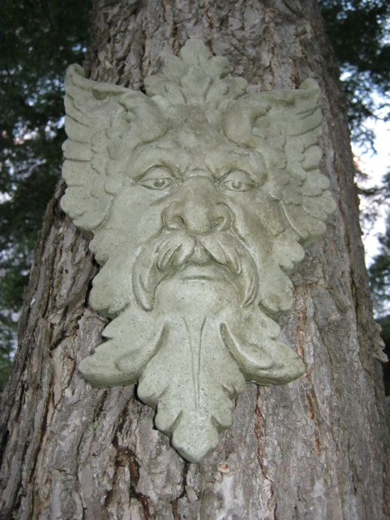 Green Man, Garden Decor Hanging Face. $24.95, via Etsy.