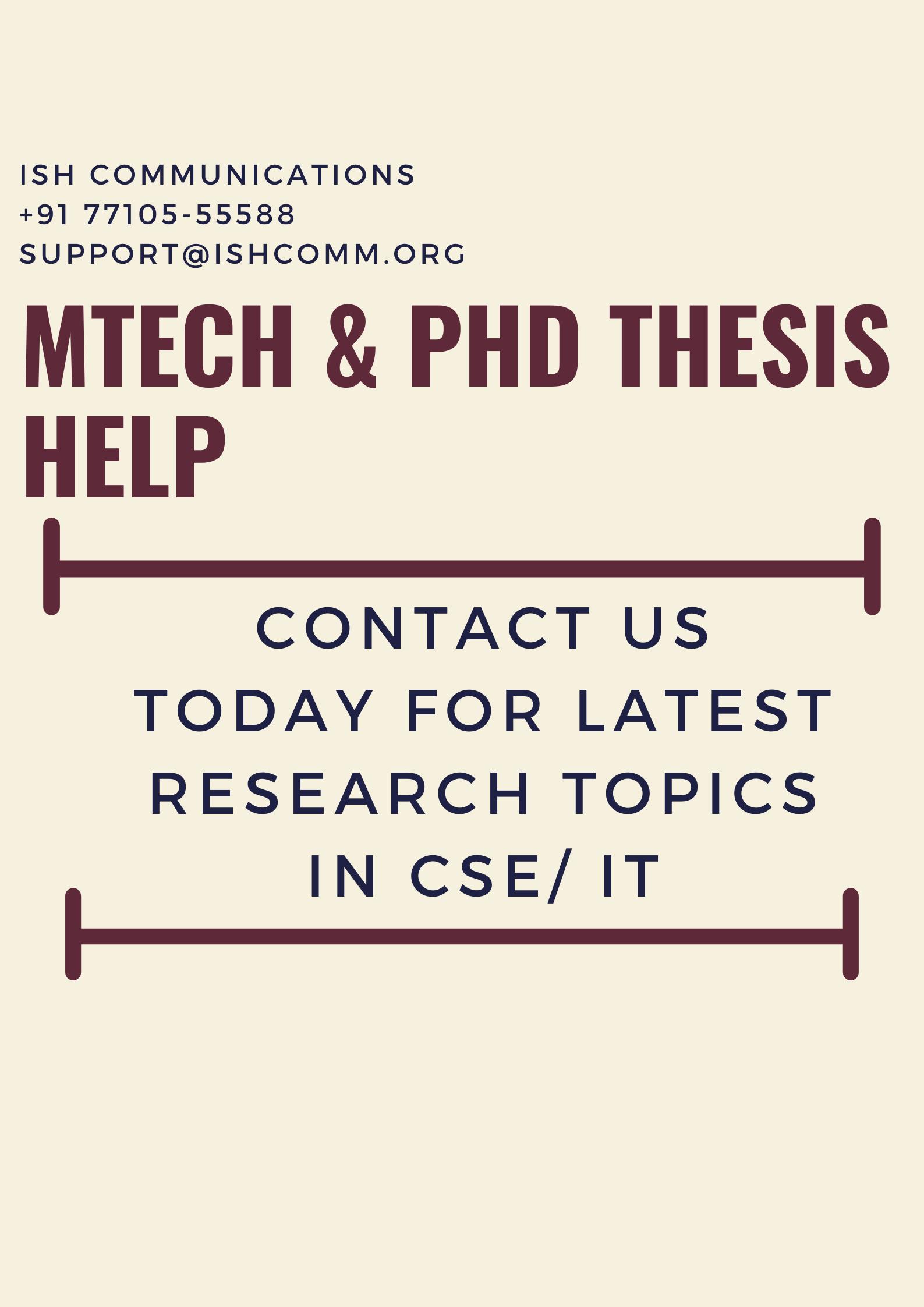 Cse It Latest Research Topic Machine Learning Data Mining Topics Cloud Computing Dissertation