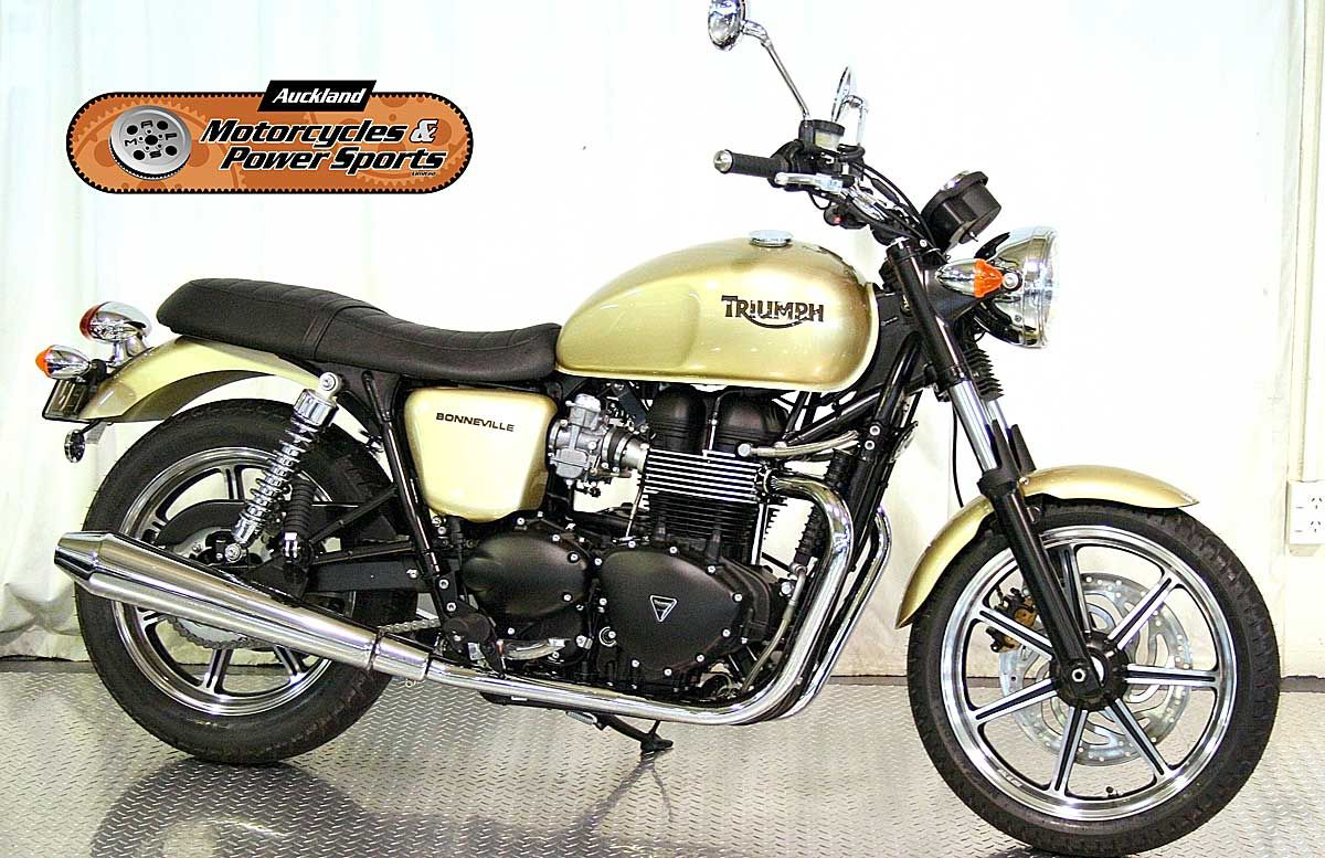 2012 TRIUMPH BONNEVILLE in Gold  At Auckland Motorcycles & Power Sports,   New Zealand www.amps.co.nz