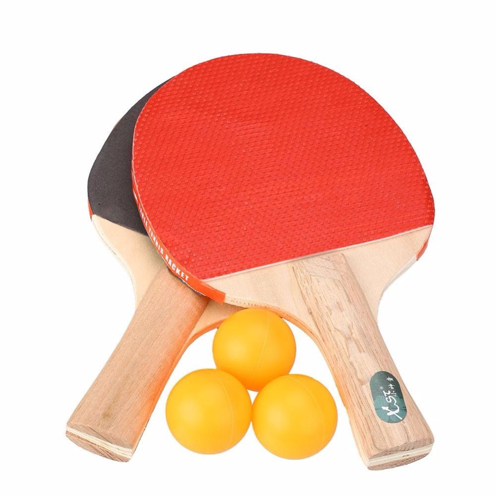 Table Tennis Racket Professional Ping Pong Paddle Bat With 3 Balls ...