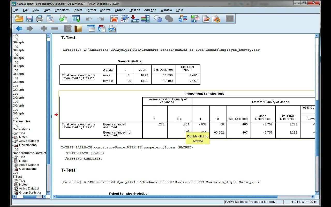 Interpret Spss Output For An Independent T Test Program