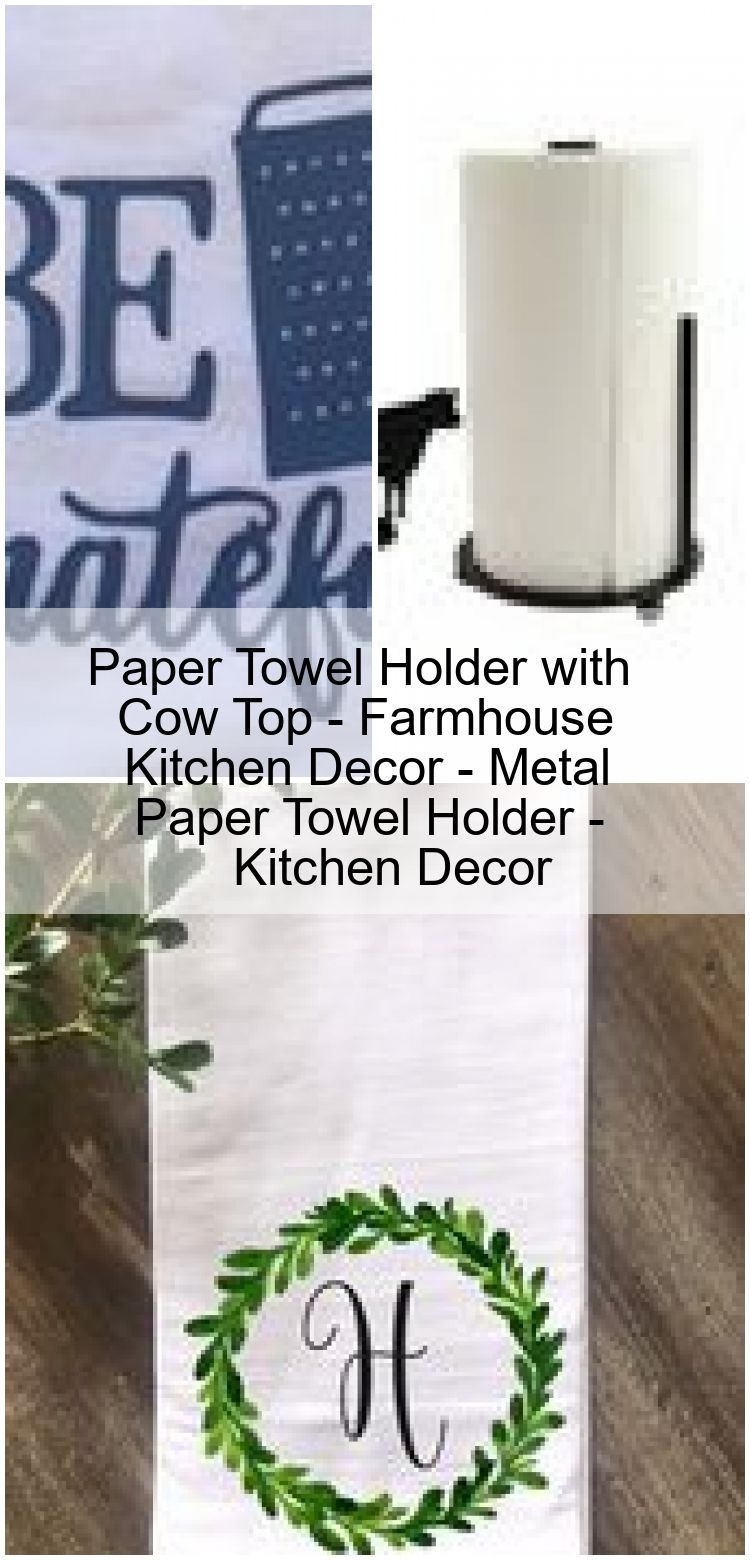 Paper Towel Holder with Cow Top - Farmhouse Kitchen Decor - Metal Paper Towel Holder - Kitche... #papertowelholders Paper Towel Holder with Cow Top - Farmhouse Kitchen Decor - Metal Paper Towel Holder - Kitchen Decor ,  #Cow #decor #farmhouse #Holder #Kitchen #Metal #Paper #top #Towel #papertowelholders
