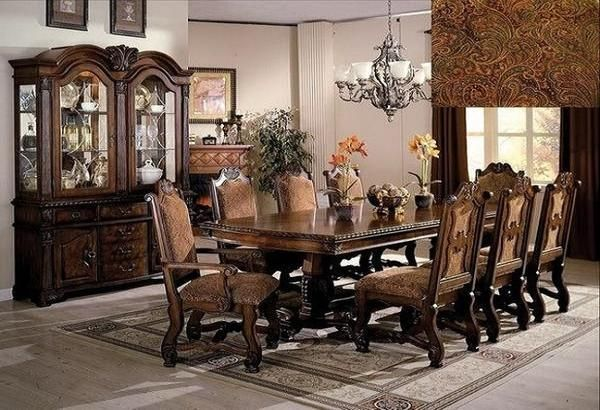 Neo Renaissance Table W 6 Chairs Formal Dining Room Table