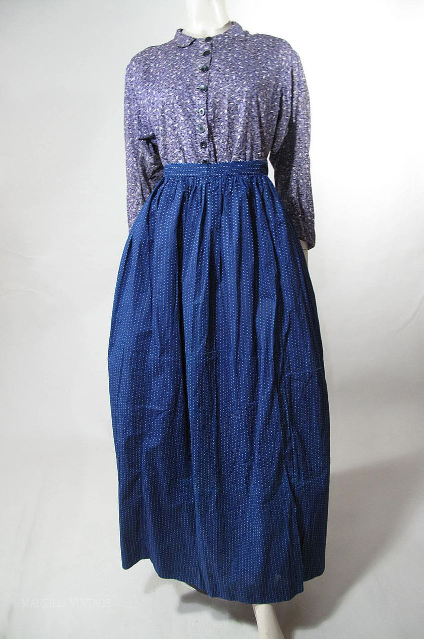Day Dress Wrapper And Apron Ca 1890 S Mulberry Print Attached Belt Day Dresses Historical Dresses 1890s Fashion [ 1280 x 849 Pixel ]