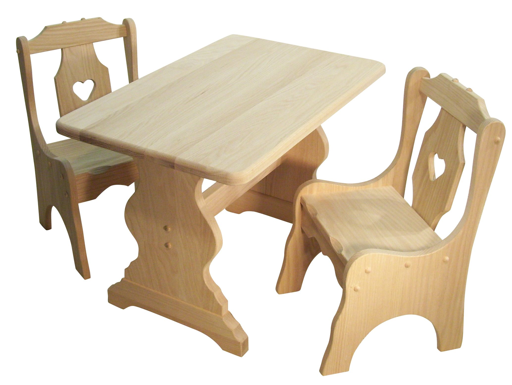 Childs Table And Heart Chairs Solid Hardwood Kids Furniture Finishes And Stains Customizable Amish Furniture Childrens Table Childrens Furniture