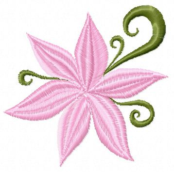 Small Flower Free Machine Embroidery Design Vyvn Pinterest