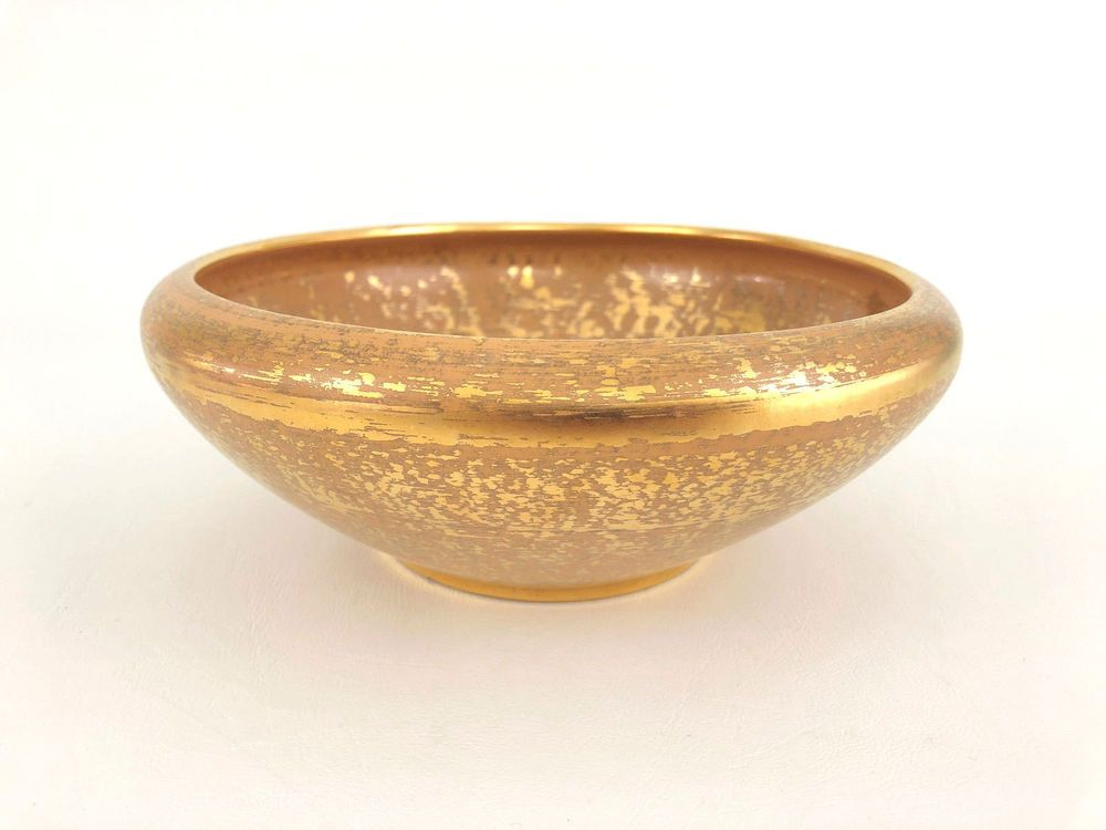 Vintage Stangl Mid Century Modern Bowl Granada Gold 3980 1960 S
