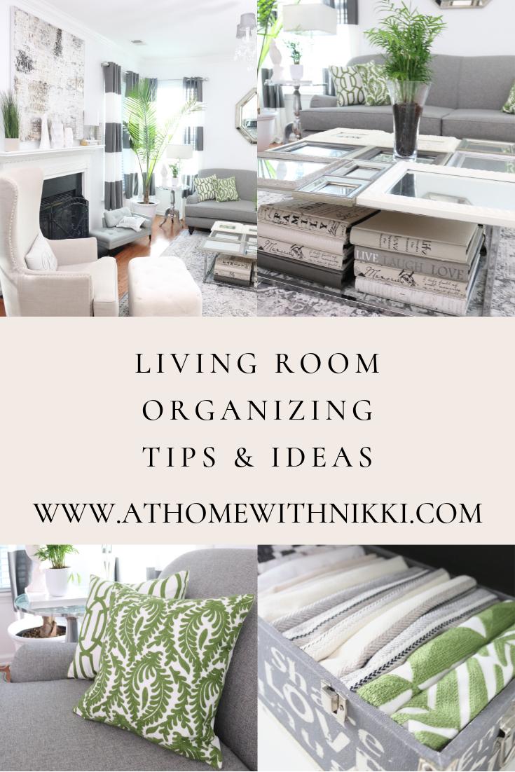 Living Room Organizing Tips Living Room Organization Room Organization Living Room #organized #living #room #furniture