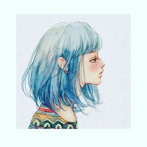 how to draw hair with watercolor