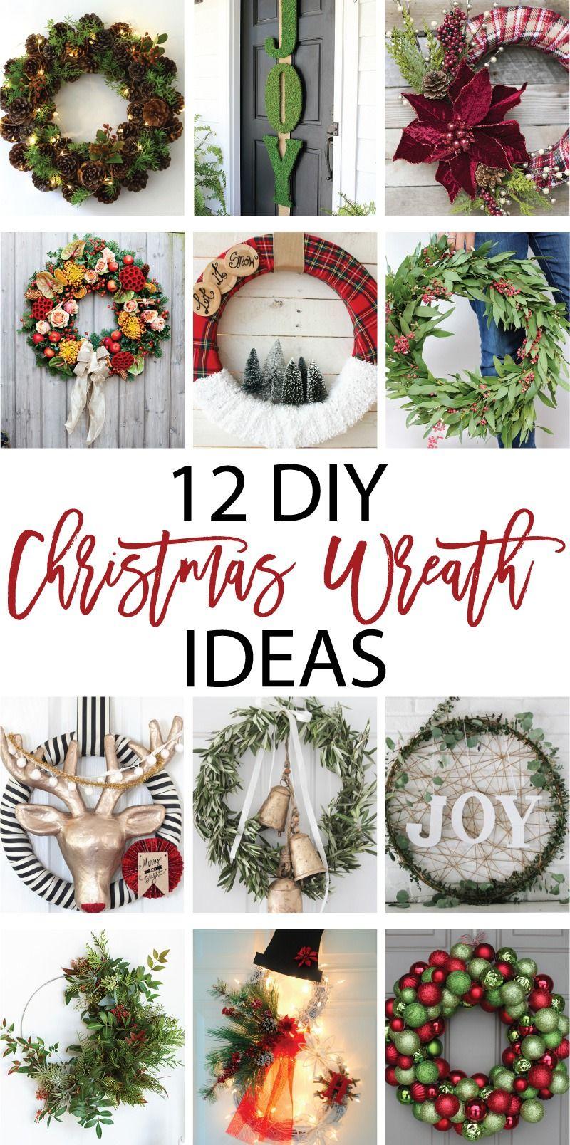 The Best 12 DIY Christmas Wreath Ideas on | A DIY Christmas ...