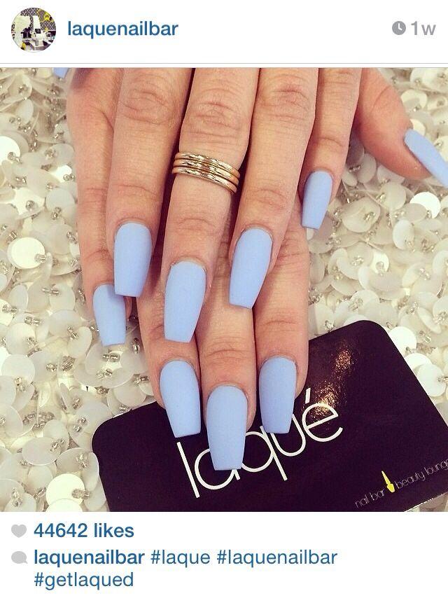 Matte powder blue. So cute! | Nails | Pinterest | Matte powder ...