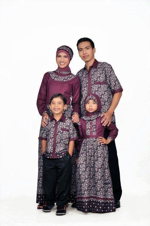 Busana Muslim Pasangan Orang Tua dan Anak