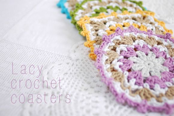 Patchwork Harmony blog: DIY: Lacy crochet coasters