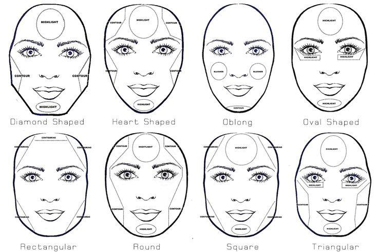 formato de rosto diamante - Pesquisa Google