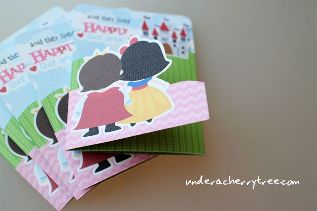 This card is so cute!  I need to try this...just to see if I can. :)    Jin's INCREDIBLE double-sided, print-and-cut, tri-fold card@Under A Cherry Tree