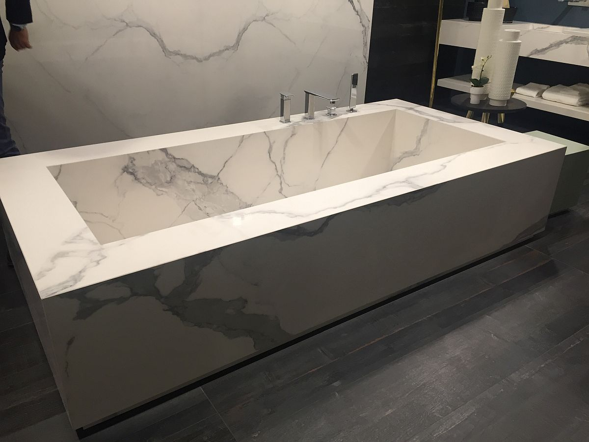 look faucet a filler marble freestanding ended or tiberius bathtub polished plinth carrara luxurious for hardware mounted pair tub with double pedestal on wall stone
