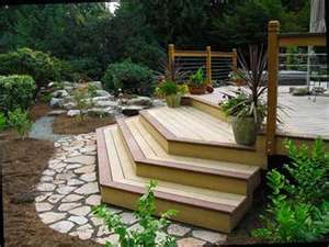 Outdoor Deck These Stairs Are Fab Decks Backyard Patio