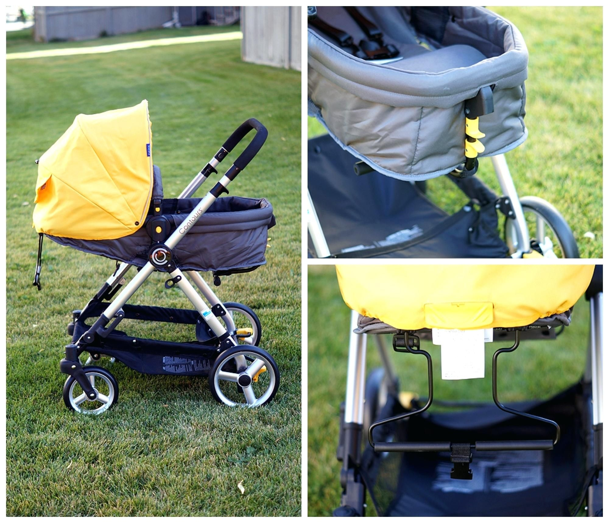 Grün, Baby, Kinderwagen Konturen Glückseligkeit