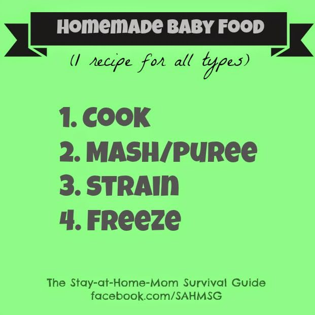 Homemade baby food homemade baby foods homemade baby and homemade homemade baby food the stay at home mom survival guide homemade baby foodsrecipe bookssurvival forumfinder Gallery