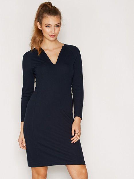 69be7bf78695b2 Jersey Split Dress
