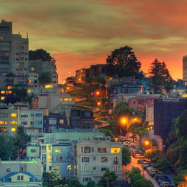 Sunset over Lombard St, San Francisco | Flickr - Photo Sharing!