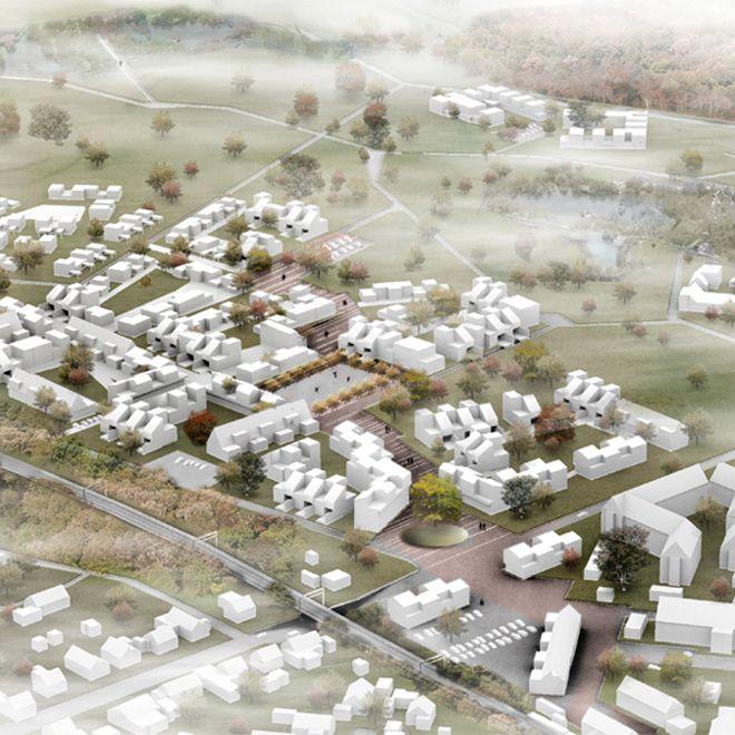 CORNELIUS + VÖGE APS atelier for arkitektur Landsbyskabet - Boligområde i Viby SJ.  1. Præmie