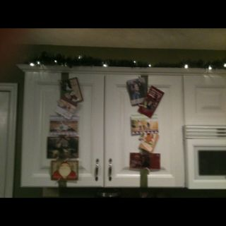 Christmas card display at the Mareks