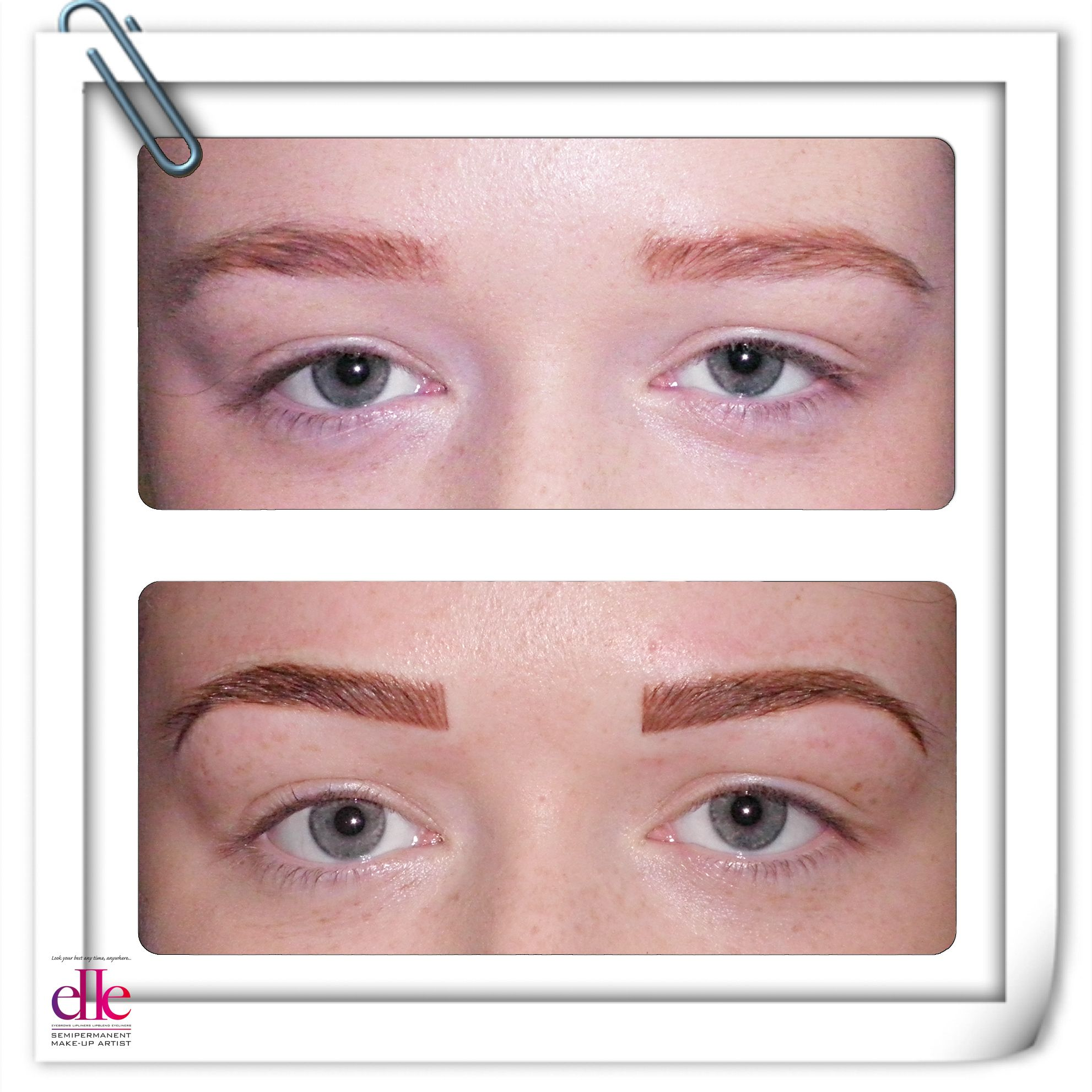 Before And After Faded Previous Semipermanent Eyebrows Have Been
