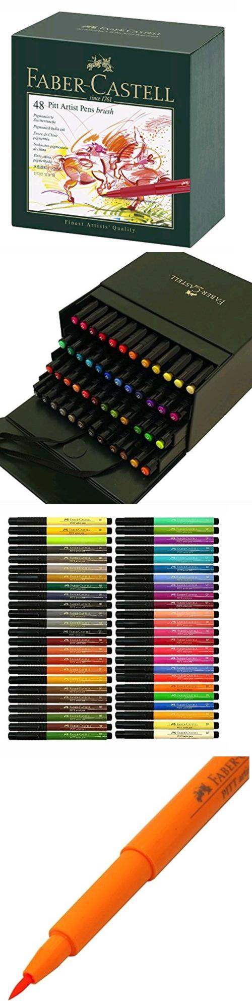 Multicolor Faber-Castel Pitt Artist Brush Pens 48 Pack
