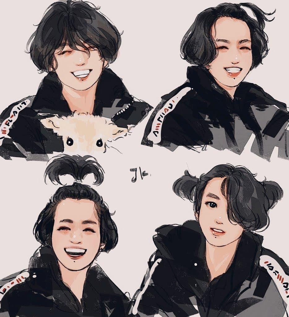 Lirik Lagu BTS in 2020 Bts fanart, Bts drawings