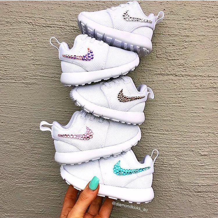 innovative design 55951 1a2ca A rainbow of Baby Nike Roshes ❤️ Crystal clear, Crystal AB ...