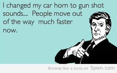 Don't I wish!  Who'd expect gun sounds from a pink bug?  Lol