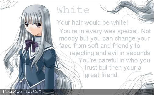 White anime hair color meaning Anime hair color, Anime