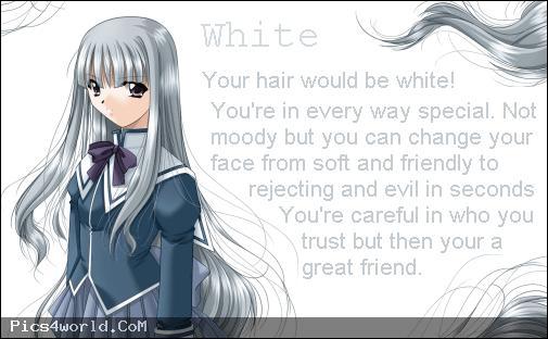 White anime hair color meaning Anime hair color, Anime