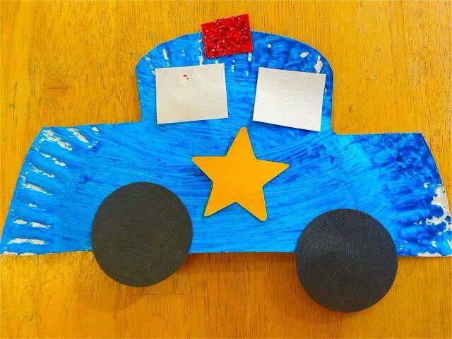 Police car & Police car | Paper Plate Craft Ideas for Toddlers | Pinterest ...