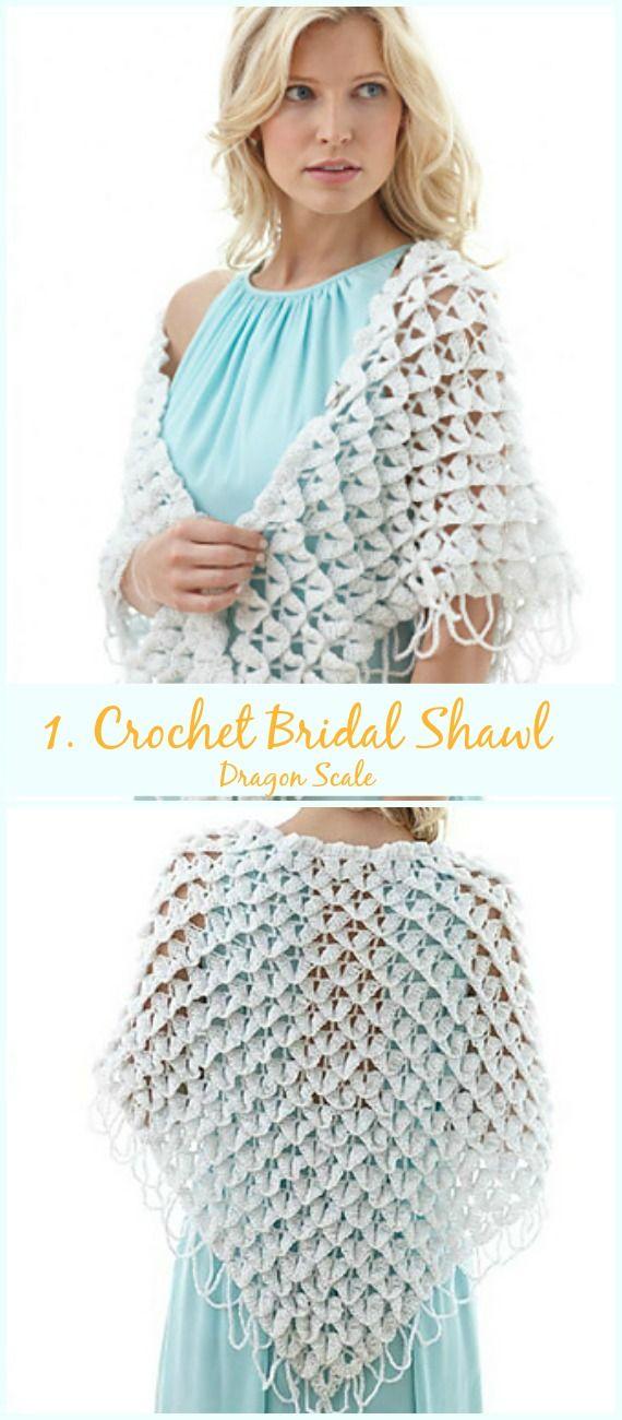 Crochet Bridal Shawl Free Patterns For Wedding Elegance | Crochet ...