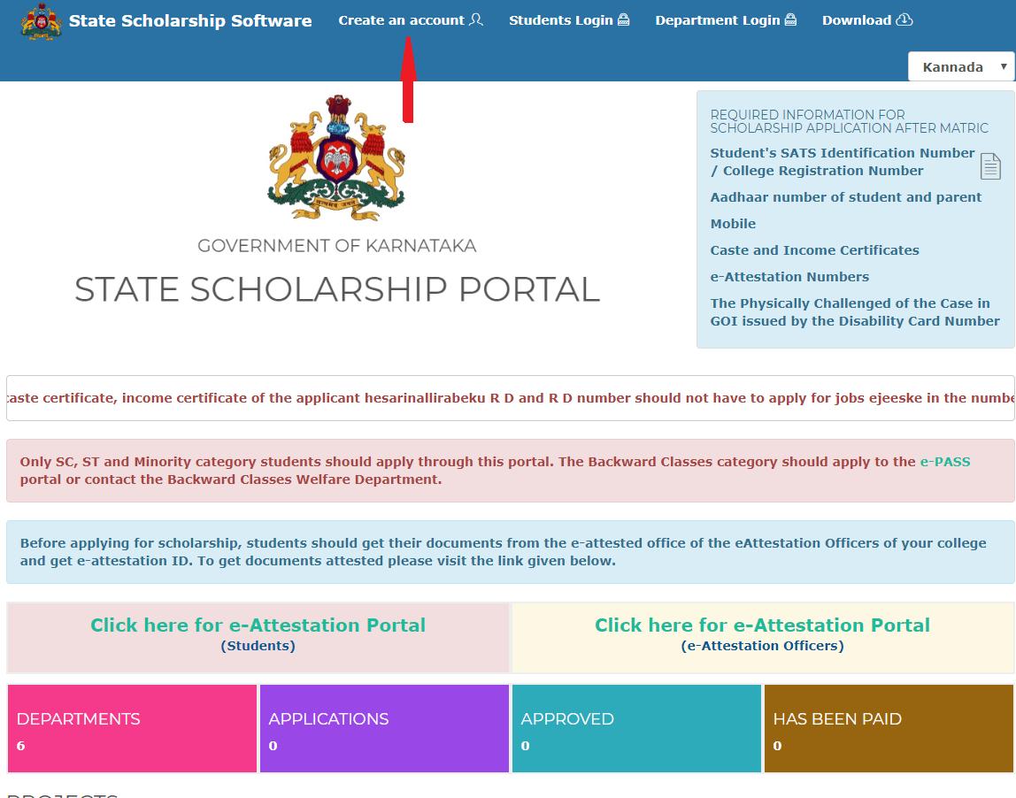 Ssp Scholarship 2019 State Scholarship Portal Karnataka Scholarships Eligibility Application Process Scholarships Student Login Student Scholarships