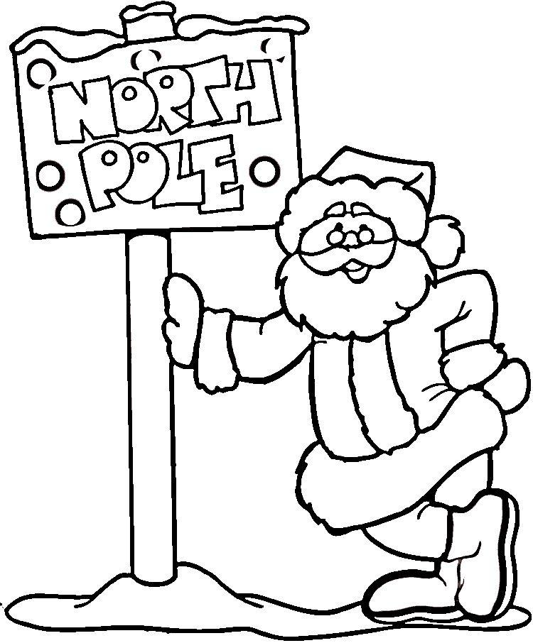 Santa Xmas Coloring Pages Santa Coloring Pages Christmas