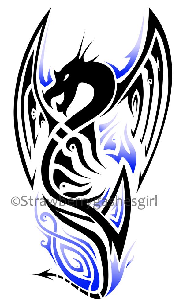 Dragon Tattoo Design Blue By Strawberrygashesgirl On Deviantart Small Dragon Tattoos Dragon Tattoo Designs Blue Dragon Tattoo