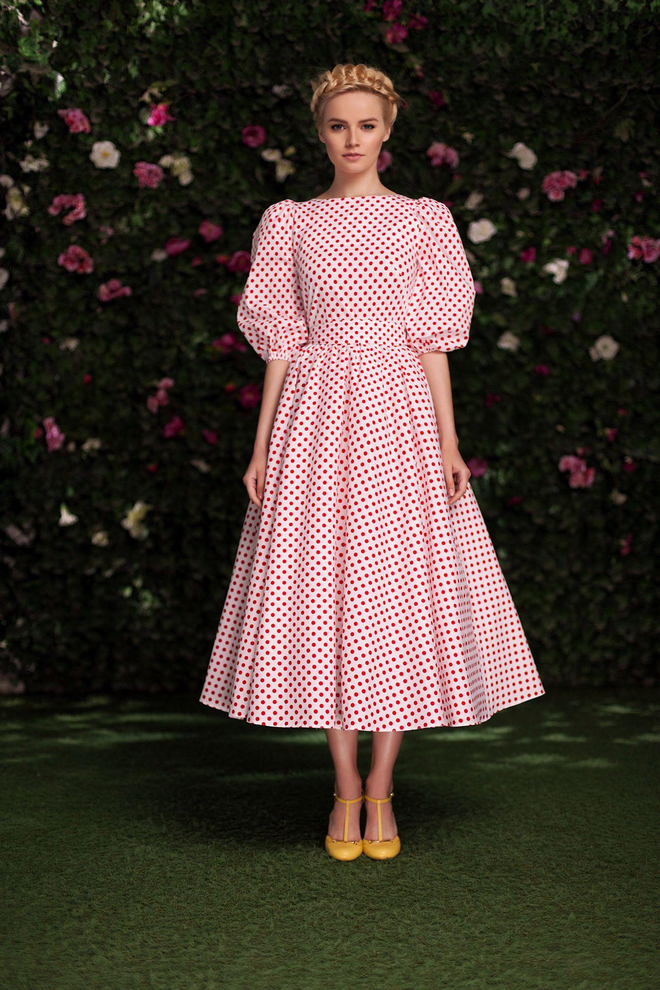Платье «Соня» красный горох — 21 990 рублей | мода | Pinterest ...