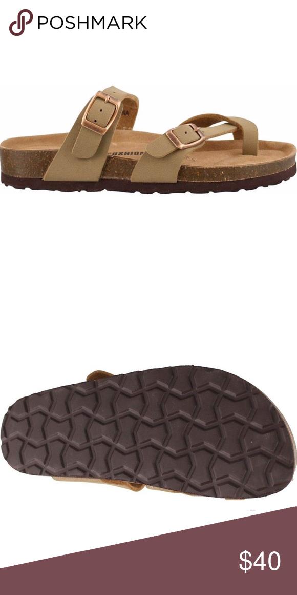 8da08b8c3667 NIB  60 Cushionaire Luna Low Heel Sandals Taupe 7 Leather Synthetic sole Women s  Cushionaire