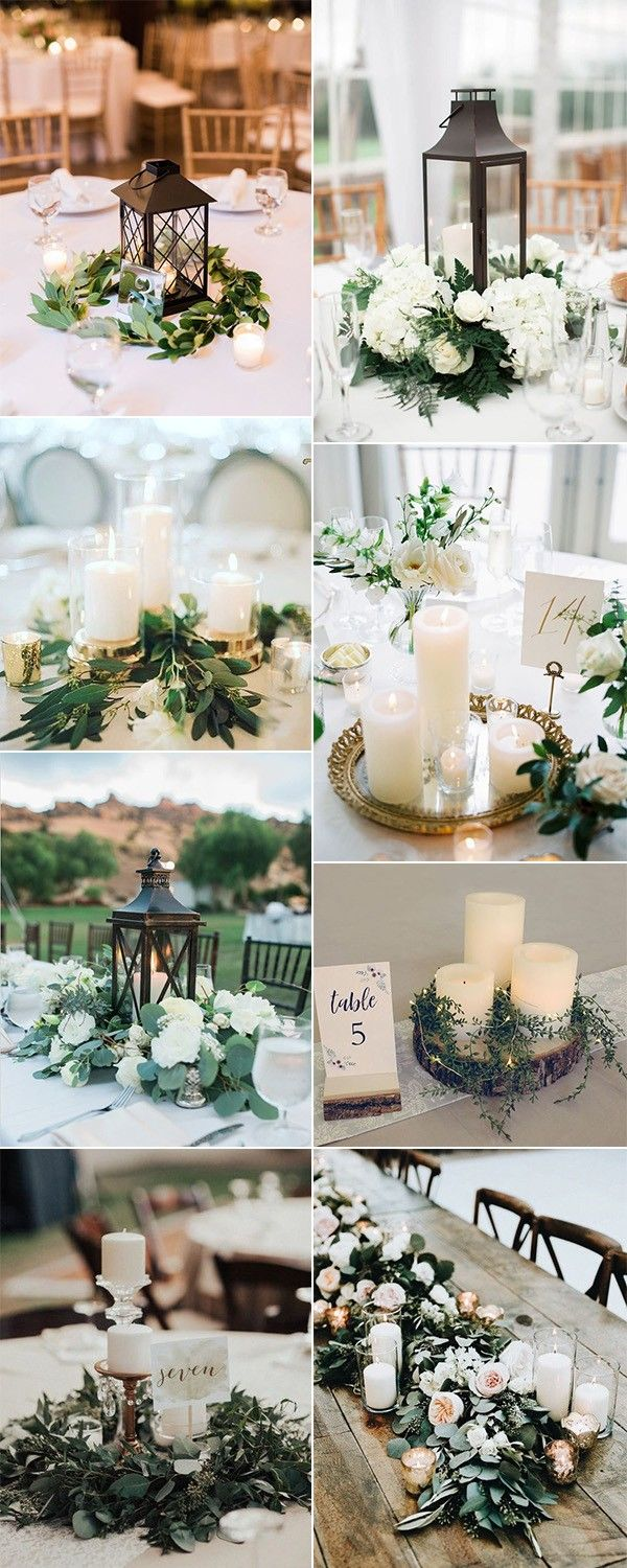Simple Wedding Reception Table Decorations  from i.pinimg.com
