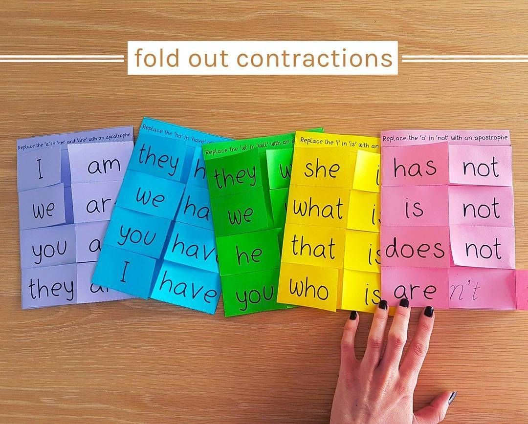Interactive Spelling Activity Contractions