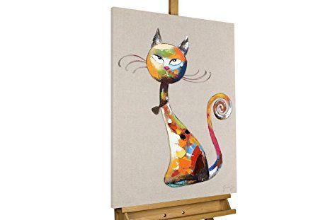 Kunstloft Bilder kunstloft acryl gemälde 'aristocat' 60x80cm | original handgemalte